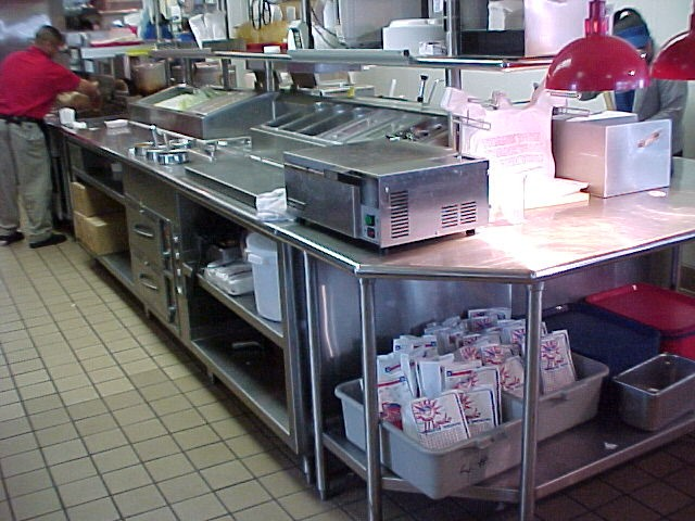 Custom fabricated food service equipment